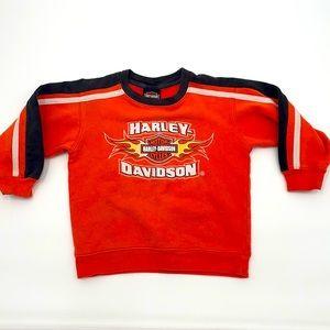 Kids Harley Davidson orange black sweat shirt top